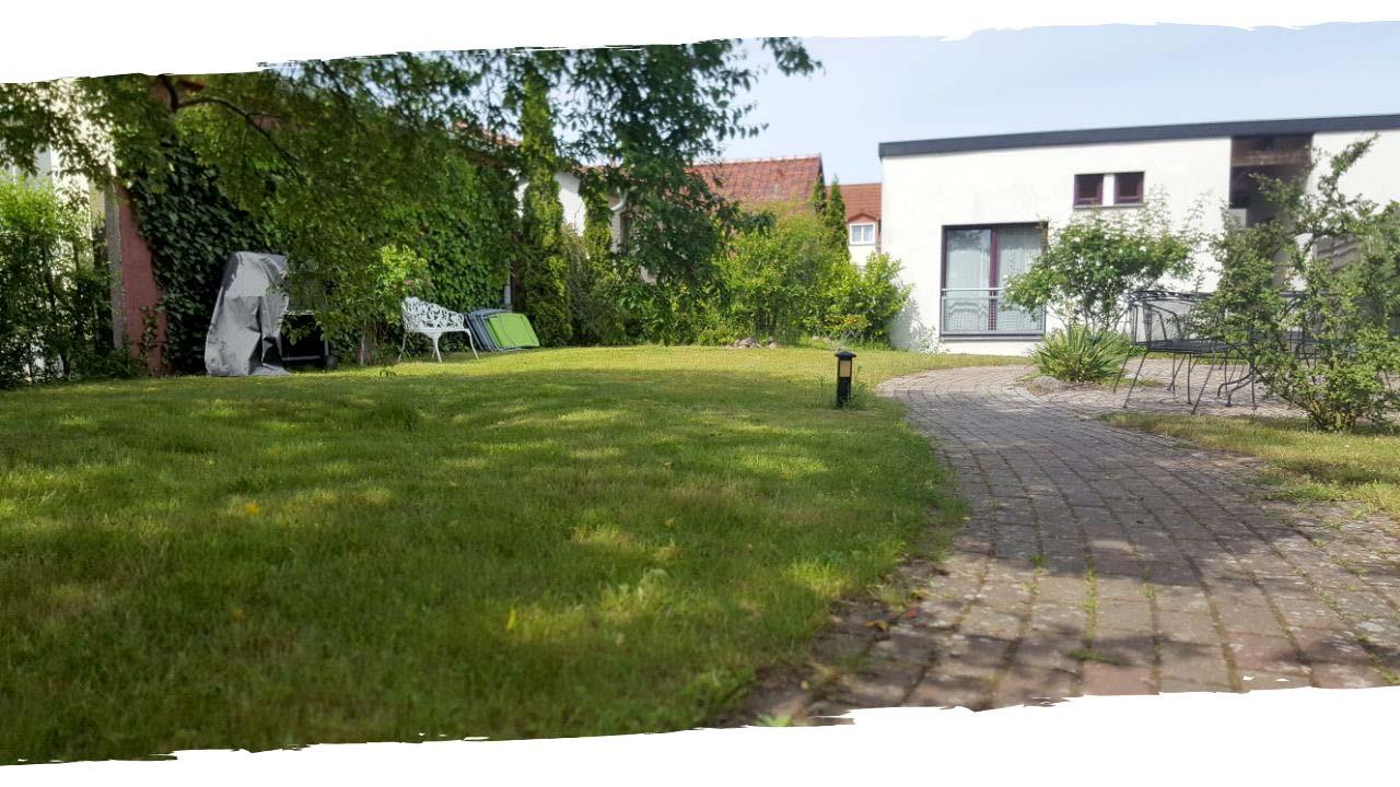 Garten und Terrasse - Urlaub in Waren